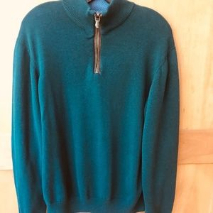 Vineyard Vines Sweater w/ Brown Suede Patches SZ S